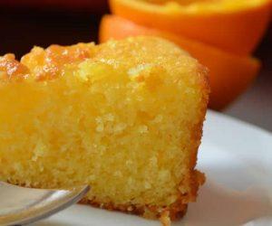 Bolo de laranja (sem leite, ovos, soja, milho)